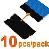 Ehdis 10x4.8cm Andrückrakel Zubehör Stoff Filzkante Scratch Freie weiche nasse trockene Filz für Car Wrapping Scraper 3M Andrückrakel 10PCS/Packung (nicht Andrückrakel inbegriffen)