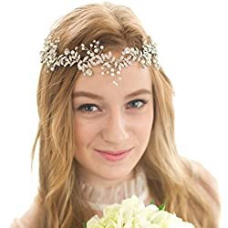 Diadema para la novia - pelo suelto