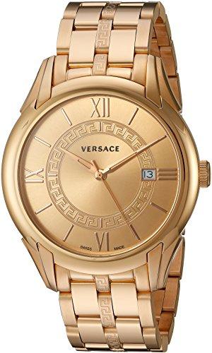 Versace hombres del 'Apollo' Swiss cuarzo acero inoxidable Casual reloj (modelo: v10090015)