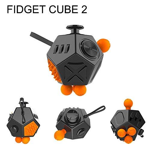 0fea1f7d8f0 Digital Tec Fidget Cube 2 12-Side Fidget Cube Spinner Toy Stress Anxiety  Relieves Stress