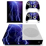Stillshine Vinyl Skin Decal Full Body Sticker For Microsoft Xbox One S Console & 2 Controllers And Kinect 2.0 (Violet Lightning)