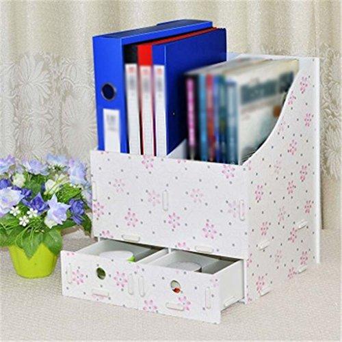 Caja de almacenaje del estante del estante del libro Creativo 285 * 260 * 348m m Verde ( Color : Rojo )