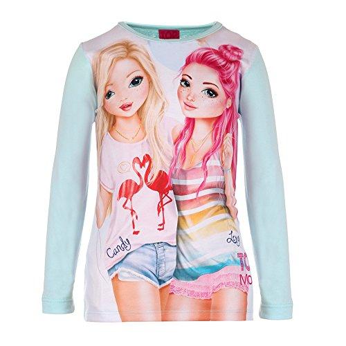 Mädchen Top Model Shirt, mintgrün, Größe 128