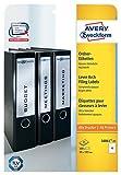 Avery Zweckform L6061-25 Ordner-Etiketten 25 Blatt weiß