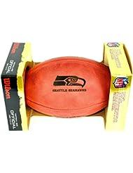 NFL Original Balón de fútbol con logotipo del equipo, Seattle Seahawks