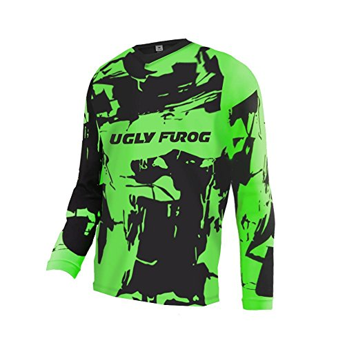 Uglyfrog Winter Thermal Vlies Downhill Trikot Herren Mountainbike Freeride BMX Fahrradtrikot Lange Ärmel Motocross MTB/Downhill Bekleidung -