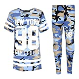 A2Z 4 Kids® Girls NEW YORK BROOKLYN 98 ATHLECTIC Camouflage Print Trendy Top & Fashion Legging Set New Age 7 8 9 10 11 12 13 Years
