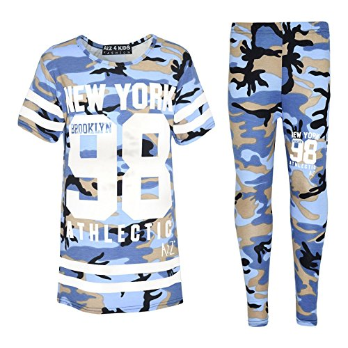 A2Z-4-Kids-Girls-NEW-YORK-BROOKLYN-98-ATHLECTIC-Camouflage-Print-Trendy-Top-Fashion-Legging-Set-New-Age-7-8-9-10-11-12-13-Years