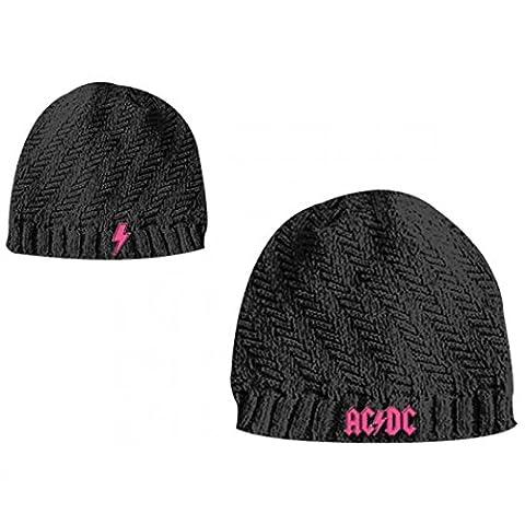 AC/DC girls beanie – Black, rose logo