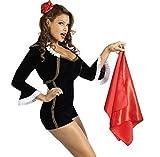femmes Espagnol mexicain MATADOR MATADOR Combinaison cirque costume déguisement - Noir, 12-14