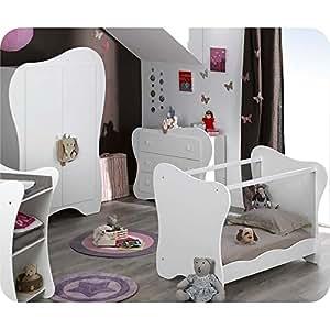 Machambredenfant - Chambre Bébé Complète Iris Blanche