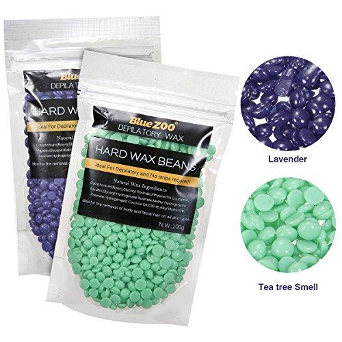 Haarentfernung Wachsbohnen, LuckyFine Heisswachs Für Intim, Beine, Arme und Gesicht Haarentfernung für zuhause 100g grün