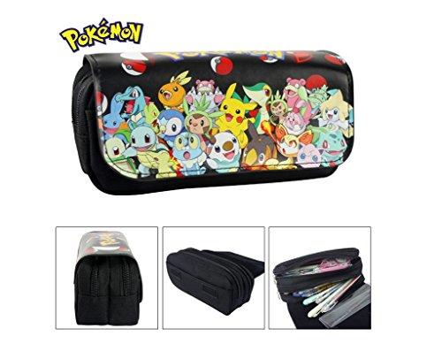 Estuche Escolar dos compartimentos Pokemon Go Pikachu negro