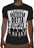 Mens Straight Outta Compton Poster Eazy Dre Ice Ren Yella T-SHIRT (X-Large, Black)