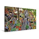 Premium Textil-Leinwand 90 cm x 60 cm quer, Bauernmarkt | Wandbild, Bild auf Keilrahmen, Fertigbild auf echter Leinwand, Leinwanddruck (CALVENDO Orte)