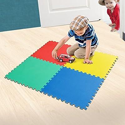 casa pura® Steckmatte Duo | schadstofffrei | für Babys geeignet | 4 Steckquadrate 60 x 60 cm | hautfreundlicher EVA-Schaumstoff