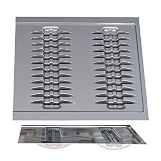 Handles & Ironmongery Plate Holder for 600mm Cabinet Matt Anthracite - 514mm wide x 423mm deep