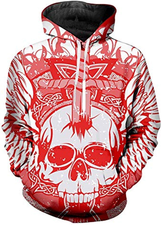Jonyn Unisex Felpe con Cappuccio Uomo Stampato 3D Stampato Uomo Pullover  Sweatshirt Maniche Lunghe Tasche Felpa Sportive Maglione... bd4938 0f02d3d314f0