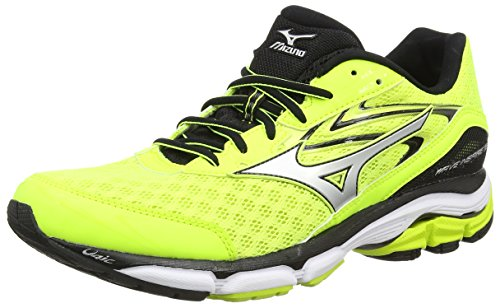 MizunoWave Inspire 12 - Scarpe Running uomo, Giallo (Safety Yellow/Silver/Black), 43