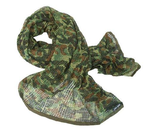 Mil-Tec Netzschal, aus Baumwoll - Polyester Mischgewebe, 190 x 90cm - flecktarn