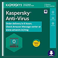 Kaspersky Anti-Virus 2018 - 1 PC, 1 Year (Email Delivery in 2 hours- No CD)