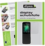 dipos I 2X Schutzfolie matt passend für Nokia 8110 4G Folie Bildschirmschutzfolie