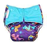 Superbottoms Cloth Diapers - SUPER TRIM Superbottoms Plus reusable all in one (AIO) cloth diaper for heavy absorbency (Purple Love)