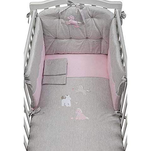 Picci Coordinated Bed Linens for Crib melange Pink Milky