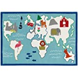 Around The World Aqua Alfombra infantil (170* 120cm Designers Guild dhr172/01