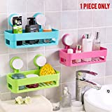#4: Multi-function Suction Cup Organizer Holding Shampoo - Toothbrush - Razor - Sponge Storage for Bathroom Lavatory - Kitchen - Shower Basket - Toiletry Shower - Shelf and More- By Kurtzy (Random Color)
