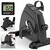 Kinetic Sports Mini Bike Pedaltrainer Heimtrainer Arm- und Beintrainer Bewegungstrainer mit Trainingscomputer, Schwarz