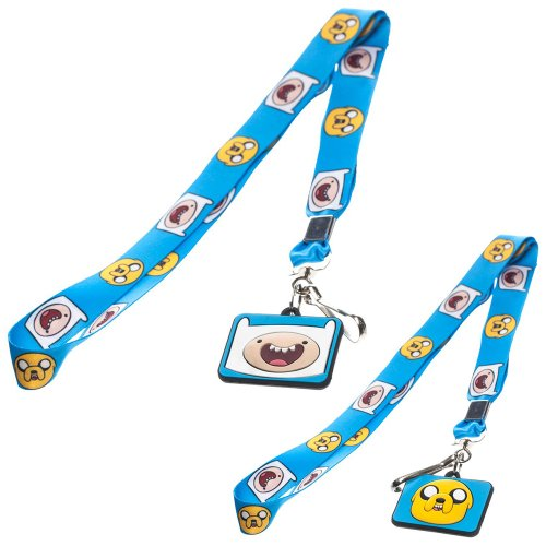 Adventure Time Finn & Jake Lanyard Blue Portachiavi