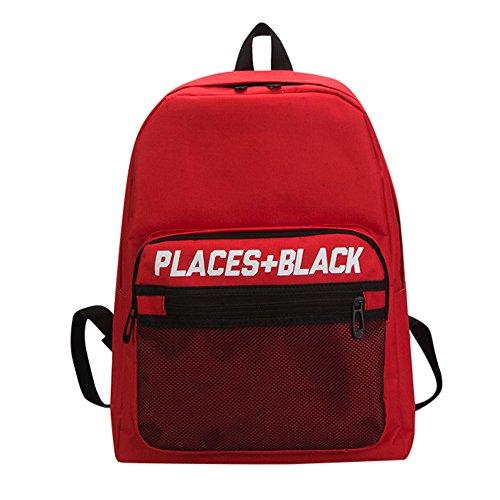 Rucksack Jugendliche Handtasches Schulrucksack BestShope Wasserdicht Rucksäcke Geldbörse Handtasche großer Beuteltasche Einfarbig Reißverschluss Taschen für Mädchen Jungen&Kinder Fraue Damen Herren