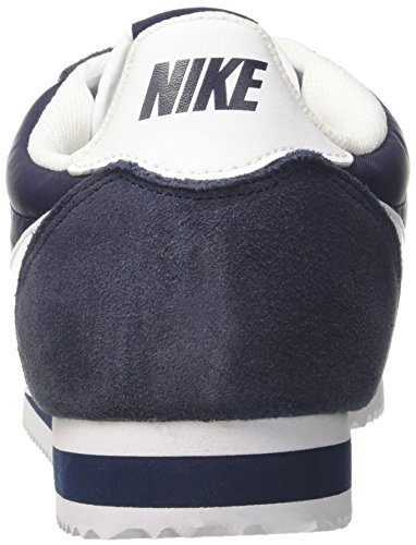 Nike Classic Cortez Nylon, Chaussures De Sport Bleues Pour Homme (obsidienne / Blanc)