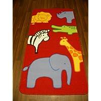 Non Slip Kids Safari Animals Playmat / Rug 80cm x 150cm
