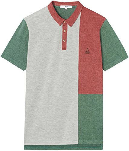 ... FIND Herren Polo-Shirt mit Colour-Blocking Mehrfarbig (Neutral)