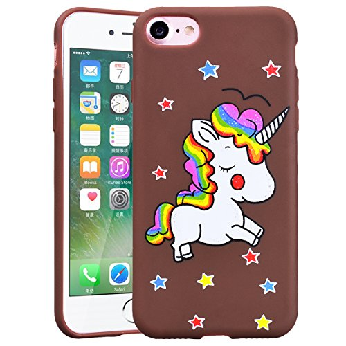 HB-Int Coque iPhone 6 / iPhone 6S Silicone Souple Bling Bling Motif Licorne Flexible Ultra Mince Etui de Protection Antichoc Léger Housse Soft TPU Case Cover pour iPhone 6 / 6S - Transparente Burn