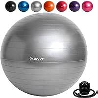 MOVIT Gymnastikball »DYNAMIC BALL« inkl. Pumpe, 55 65 75 85 cm, 7 Farben, Maximalbelastbarkeit bis 500kg, berstsicher, Fitness-ball, Sitzball, Yogaball, Pilates-ball, Balance