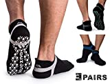Muezna Slip Socks Uomo, Abbigliamento da Palestra Pilates Calzini da Allenamento in Cotone Calzini da Yoga di Alta qualità
