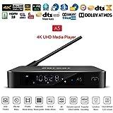 Lecteur multimédia Egreat A5 HDD Média Player Quad Core UHD Set Top Box Wi-Fi HDR Smart TV Box Android avec BT 4.0 /H.265 / 4K / 3D