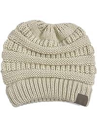 Hmmao Sombrero Sombrero De Otoño Invierno Sombrero De Punto Hombre Sombrero  De Punto f612a1ec4e0