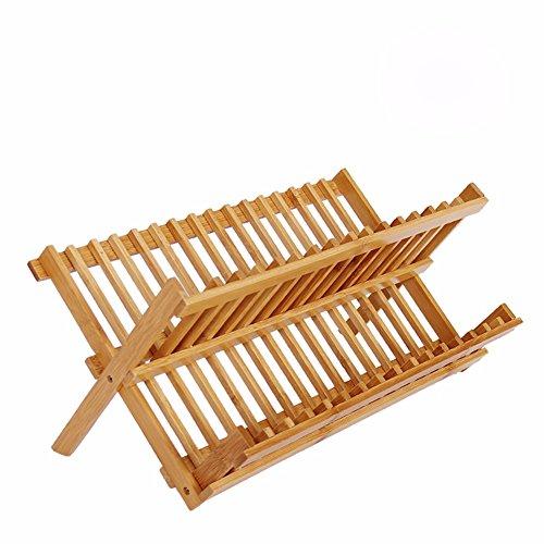 SSBY Cucina scolapiatti bamboo storage rack per