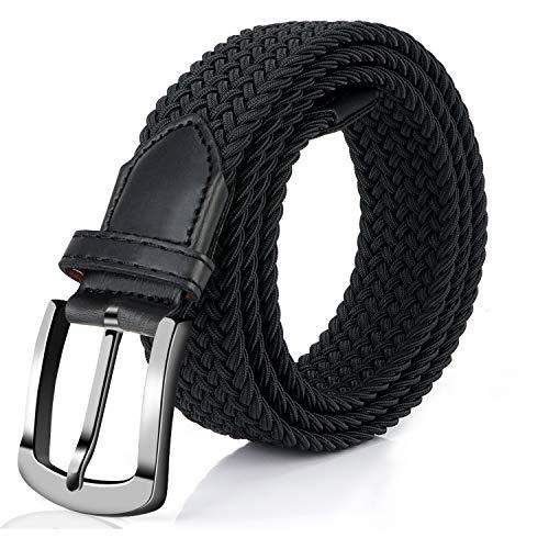 Fairwin Cinturón Trenzado Elástico, 3.5 cm Ancho Cinturón De Estiramiento, 2019 Tejido de punto Cinturon Mujeres Elastico Cinturon Hombres Elastico