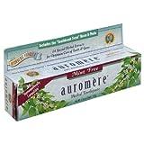 Pasta de dientes ayurvédica de hierbas, menta-Libre, 4,16 oz (117 g) - Auromere