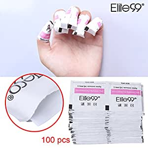 Elite99 50/100/200pcs Foil Nail Wraps Remover Pads Perfect UV LED Wipes Acrylic Gel Polish Soak Off Nail Art Cleaner Manicure Salon Tools (100pcs)
