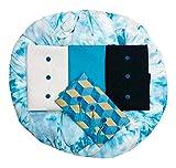HARIKRISHNA FASHION Women's Cotton 3-Top Dress Material Kaju Katli (HF-001, Sky Blue, Free Size)