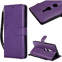 CESTOR Brieftasche Hülle für Sony Xperia XA1,Magnetverschluss Flip Ultra Dünn Weich Silikon PU Leder mit Faltbar Stand und Halter Kreditkarte Slots hülle für Sony Xperia XA1,Lila