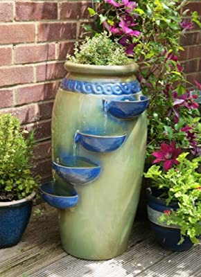 Dempsy Earthenware 4 Tier Cascade Water Feature and Planter by Primrose