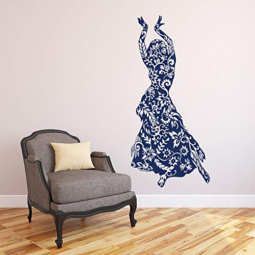zhuziji Graceful Dancer Wall Decal National Dance Woman Fashion Houseware Stickers Dance Studio Removable Vinyl Belly Dancing Art 185x86cm (Cutter Rangers Power)