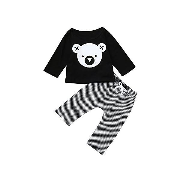 VECDY Ropa Bebe Niña 2PC Ropa Recién Nacido Infantil Bebé Niños Carta Imprimir Chaleco Tops Camiseta Sin Manga Denim… 2